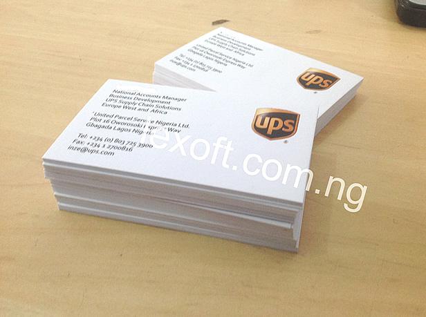 business card ups
